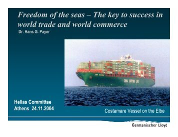 Freedom of the seas – The key to success in world trade and world ...