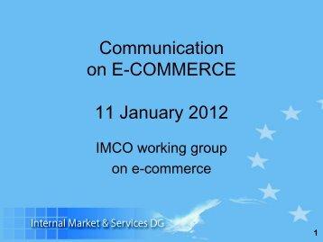 Communication on E-Commerce 11/01/12 - Eurim