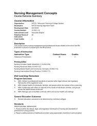 Nursing Management Concepts - Madison Area Technical College