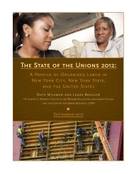 The State of the Unions 2012: - The CUNY School of Professional ...