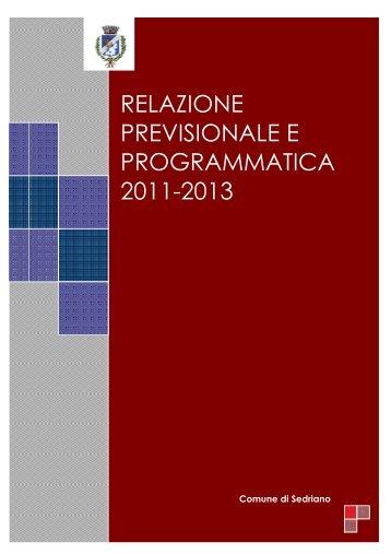 relazione previsionale e programmatica 2011-2013 - Comune di ...