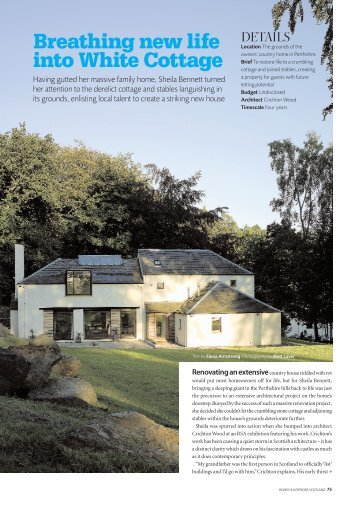 Breathing new life into White Cottage - Horton and Sons