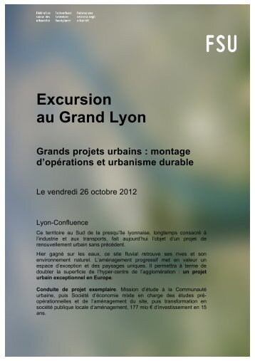 Excursion au Grand Lyon
