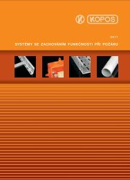 Systémy se zachování funkčnosti při požáru - LAMELA ELECTRIC, a.s.