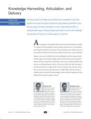 Knowledge Harvesting, Articulation, and Delivery - HP Labs ...