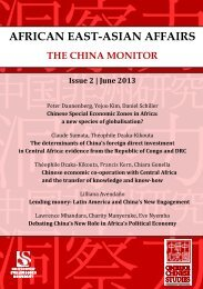 Download Issue 2 : 2013 of African East-Asian Affairs here