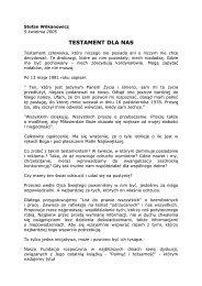 Testament dla nas - Stefan Wilkanowicz (format pdf)