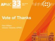 Slides - APNIC Conferences