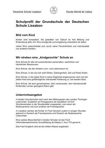 Schulprofil der Grundschule der Deutschen Schule Lissabon Bild ...