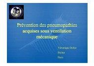 Prévention des pneumopathies acquises sous ventilation ... - SRLF