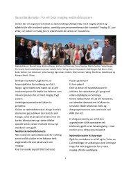 Sarambeidsmøte - for eit best mogleg nødmeldesystem - KoKom