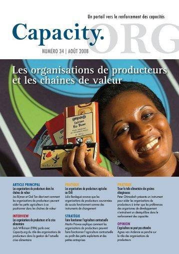 Les organisations de producteurs et les chaînes de ... - Capacity.org