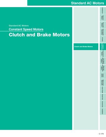 Clutch and Brake Motors - Oriental Motor