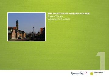 Welstand Rijssen Wonen - Gemeente Rijssen-Holten