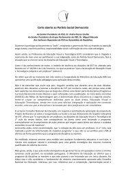 Carta aberta ao Partido Social Democrata - Associação Nacional de ...