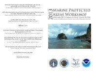 Marine Protected Areas Workshop