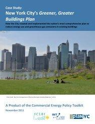 Case Study: New York City's Greener, Greater Buildings Plan