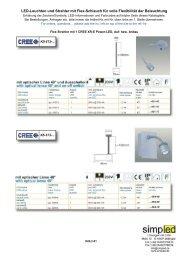 LED-Leuchten und Strahler mit Flex-Schlauch für volle ... - simpLED