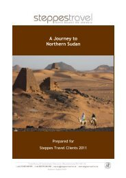 A Journey to Northern Sudan - Steppes Travel
