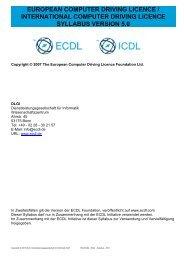 ECDL_ICDL Syllabus Version 5 0 ECDL Core DE