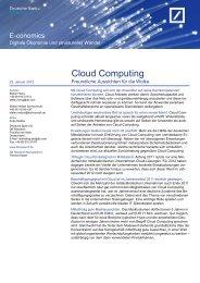 Cloud Computing: Freundliche Aussichten für die Wolke - TechConsult