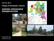 ZONING ORDINANCE PRESENTATION - Village of Mundelein