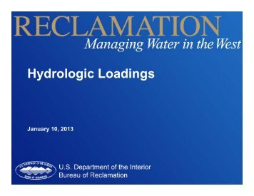 Hydrologic Loadings - Association of State Dam Safety Officials