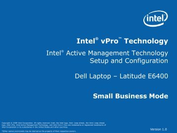 What is Setup and Configuration? - Intel MSP