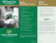 Download a Visa credit card application - Farmers & Merchants Bank