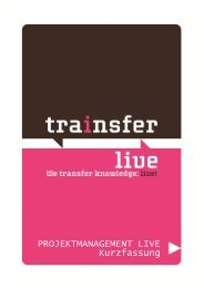 Simulation Projektmanagement live! - Trainsfer Live!