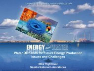 Water Demands for Future Energy Production Issues and Challenges
