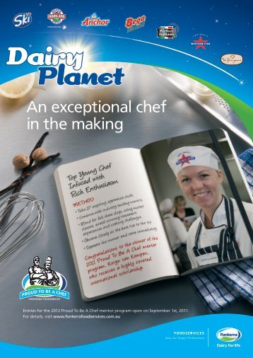 An exceptional chef in the making - Fonterra Foodservices