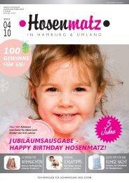 JUBILÄUMSAUSGABE – HAPPY BIRTHDAY ... - Hosenmatz Magazin