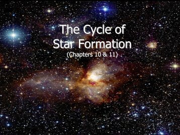 The Cycle of Star Formation (ISM & Starbirth) - part 1
