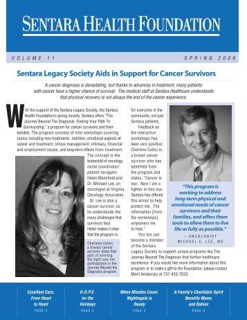 Spring 2009 Newsletter - Sentara.com