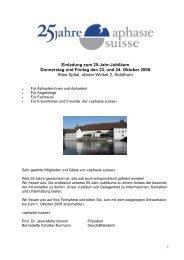 25 Jahr Jubiläum der «aphasie suisse»