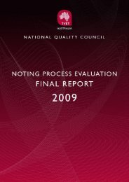 Evaluation of the Noting Process - National Skills Standards Council