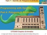 Programming with OpenGL Part 4: Polygons ... - Undergraduate