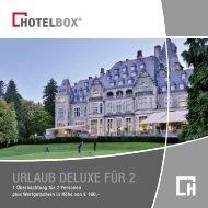 URLAUB DELUXE FÜR 2 - Hotelbox