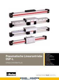 Pneumatische Linearantriebe OSP-L - Vogel Gruppe