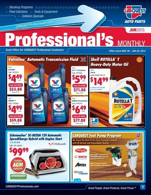 Carquest Auto Parts Near Me >> Professional S Monthly Carquest Auto Parts
