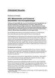 Mittelständler und Konzerne beschließen neue ... - IDS Logistik GmbH