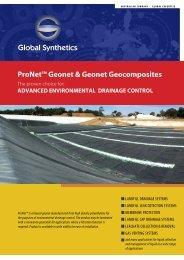 ProNet® Datasheet - Global Synthetics