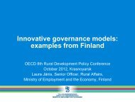 Innovative governance models: examples from Finland