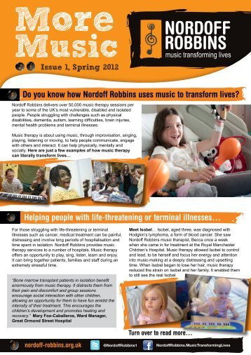 Do you know how Nordoff Robbins uses music to transform lives ...