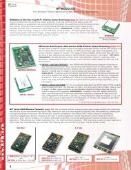 RF Modules and Standalone Radios Selection Guide - Digikey