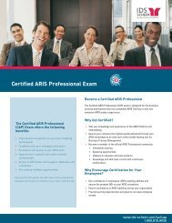 Certified ARIS Professional Exam - Software AG