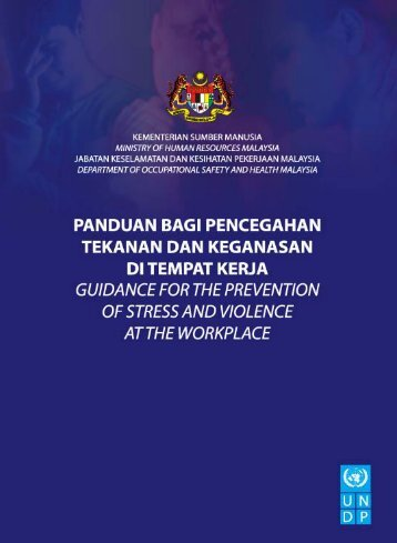 Guidance on the Prevention of Stress and Violence - Dosh