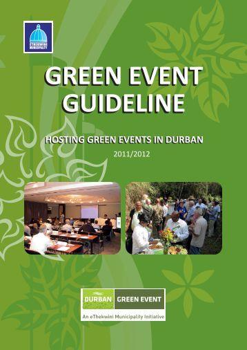 green event guideline green event guideline - COP17