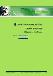 Utilización de Certificados - TheGreenBow